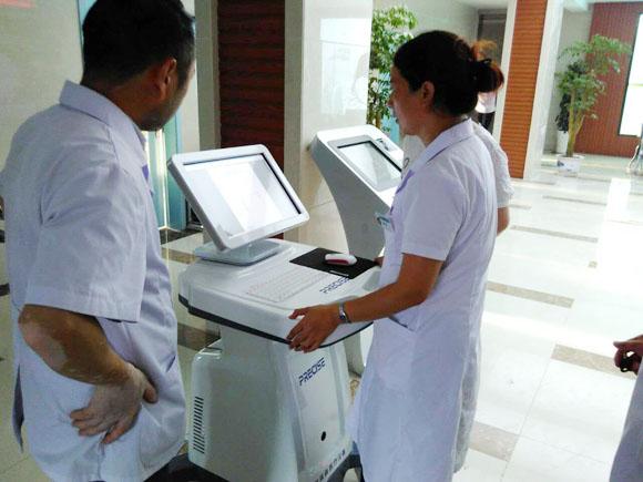 我公司技术人员赴江苏淮安进行中医体质辨识仪安装